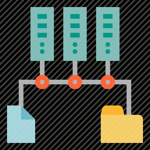 development, file, server, software, storage icon
