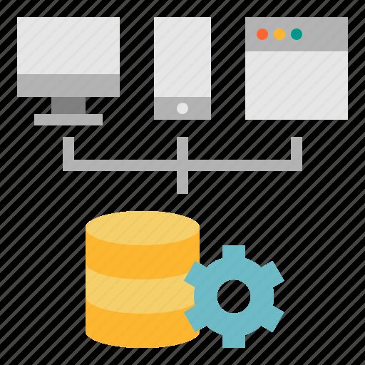 database, development, platform, service, software, web icon