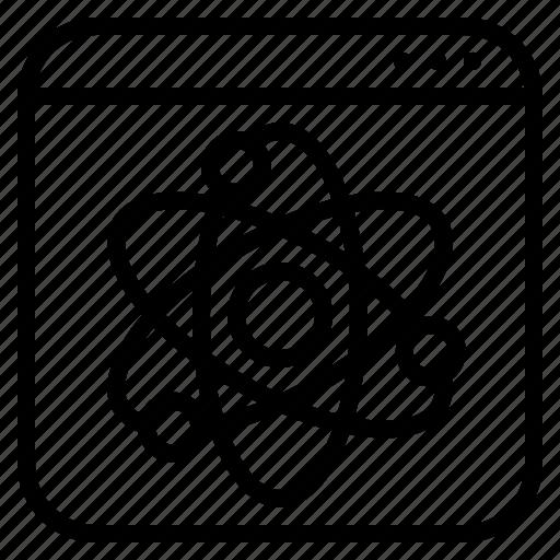 development, dynamic, science, software, website icon