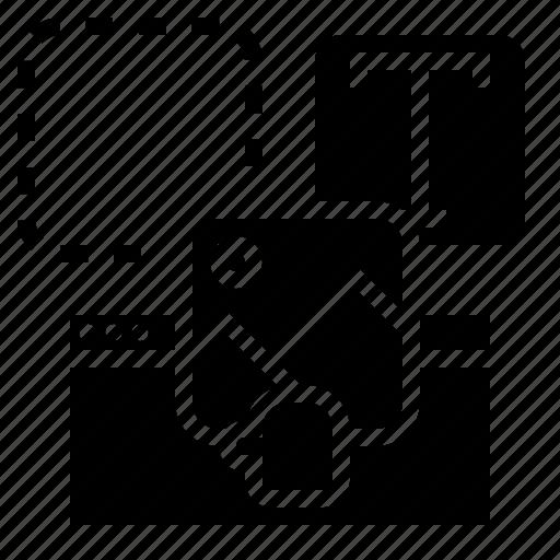 builder, development, drag, software, tools, website icon