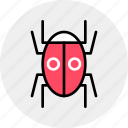 testing, virus, system, insect, bugs, bug, software icon