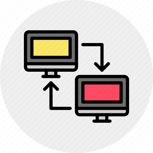 computer, connection, lan, link, network, sync icon