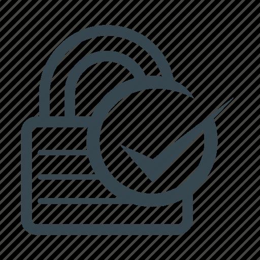 checklist, locked, padlock, security icon