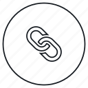 chain, link, locked, share icon