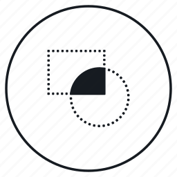 crop, shape icon