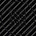 display, grid, toggle icon