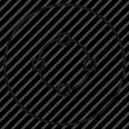 circle, create, creative, design, draw, strokes icon