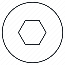 figure, geometry, hexagon, polygon icon
