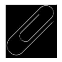 Attach, attachment, clip, paperclip icon | Icon search engine