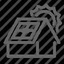 solar, ecology, energy, house, panel, sun
