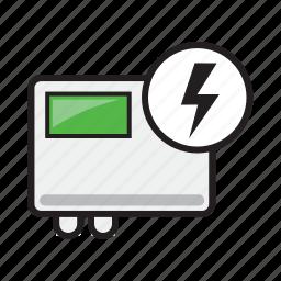electricity, error, inverter, power, repair, service, solar icon