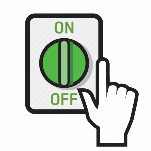 ac, dc, isolator, on, power, solar, switch icon