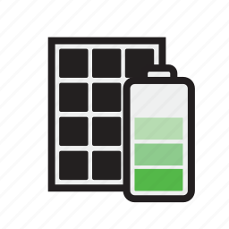 battery, electricity, home, panel, power, solar, storage icon