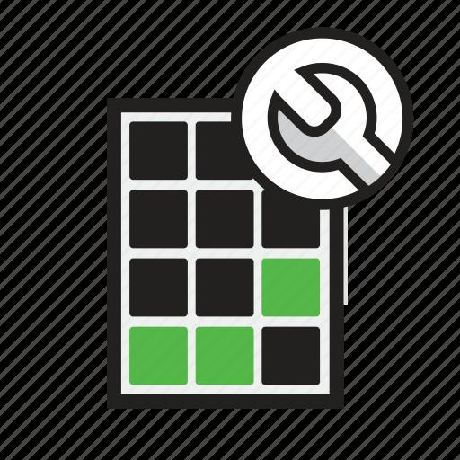module, panel, power, repair, service, solar, technician icon
