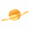 minimal, planet, saturn, solar, space, start, system icon