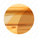 jupiter, minimal, planet, solar, space, astronomy, earth icon