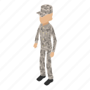 army, camouflage, isometric, military, object, overland, soldier
