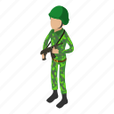 army, camouflage, isometric, male, military, object, uniform