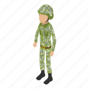 army, camouflage, isometric, military, object, soldier, war