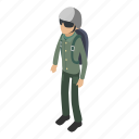 army, camouflage, isometric, male, military, object, soldier