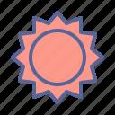 accuweather, forecast, summer, sun, temperature, weather icon