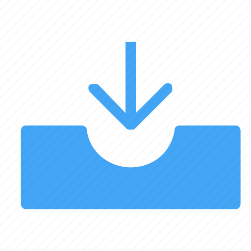 arrow, arrows, direction, down, download, inbox, navigation icon