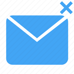 cancel, communication, envelope, interaction, interface, letter, mail icon