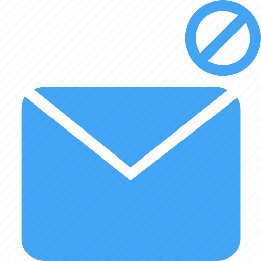 blocked, communication, email, envelope, interface, letter, mail icon