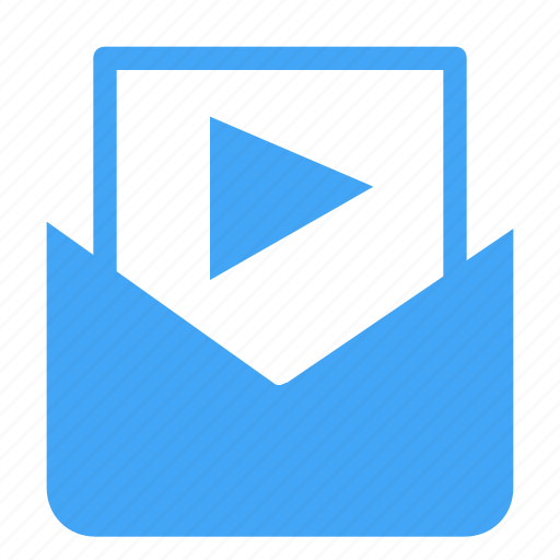 communication, email, letter, mail, media, message, movie icon