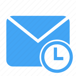 communication, letter, mail, message, pending, schedule, scheduled icon