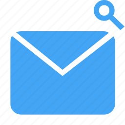 email, magnifier, magnifying, mail, message, search, zoom icon