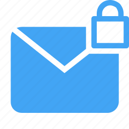 email, envelope, letter, lock, mail, message, security icon