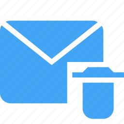 communication, delete, email, interaction, mail, message, remove icon