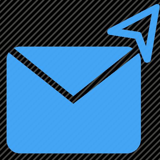 communication, conversation, email, envelope, letter, message, send icon