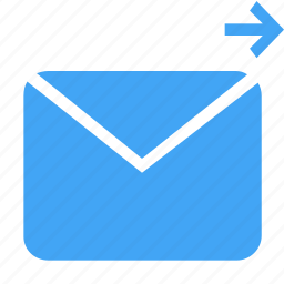 arrow, direction, letter, mail, message, navigation, right icon
