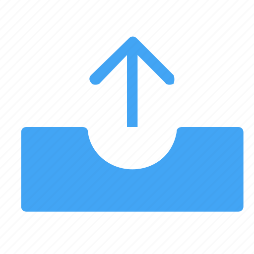 arrow, arrows, back, direction, move, outbox, upload icon