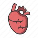 breath, doctor, heart, medical, organ, physician icon