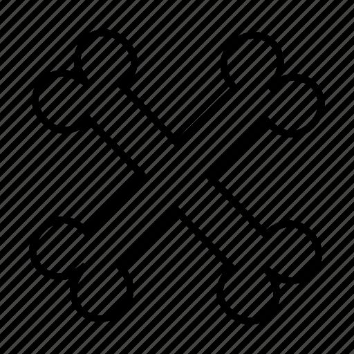 bone, cross, medical icon