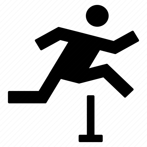 activity, athlete, health, hurdle race, jump, sport icon