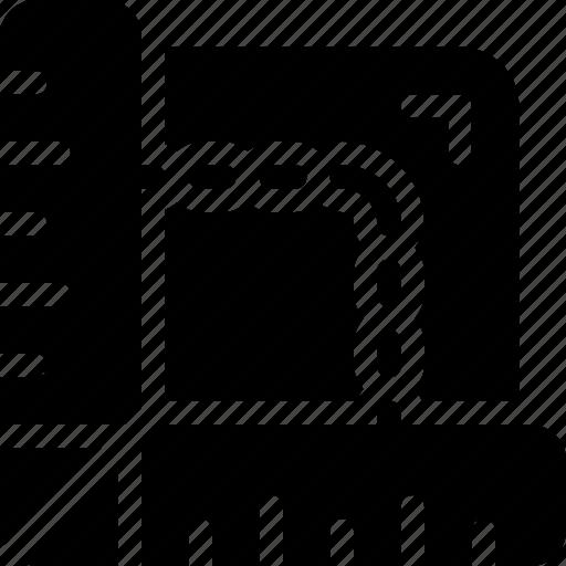 design, draft, resize, scale icon
