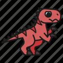 dino, dinosaur, extinct, jurassic, predator, rex, tyrannosaurus icon