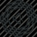acoustic, audio, field, sound, surround, vibration, wave icon