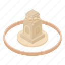 african, ancient, architecture, isometric, logo, object, temple