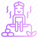 relax, sauna, spa, treatment icon