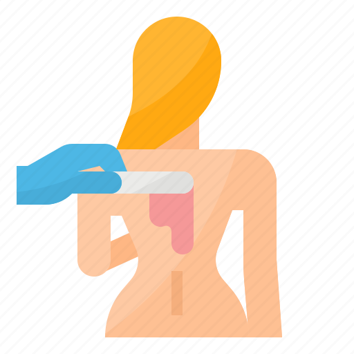 Back Hair Removal Wax Icon