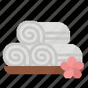 bathroom, massage, spa, towel icon