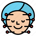 acupuncture, face, spa, treatment icon