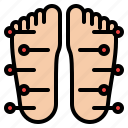 acupuncture, foot, medical, spa, treatment icon