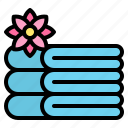 massage, relax, spa, towels icon