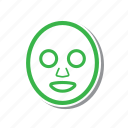 cartoon, illustration, line, masker, spa, thin, thin line icon